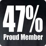 47% Proud Member - Adult Shirt