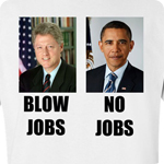 Blow Jobs No Jobs - Adult Shirt