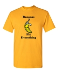 Bananas Fix Everything Adult DT T-Shirts Tee