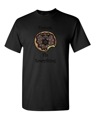 Donuts Fix Everything Adult DT T-Shirts Tee