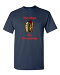Hot Dogs Fix Everything Adult DT T-Shirts Tee