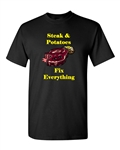 Steak And Potatoes Fix Everything Adult DT T-Shirts Tee