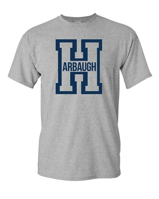 Harbaugh Big Letter H Football Michigan Adult T-Shirt Tee