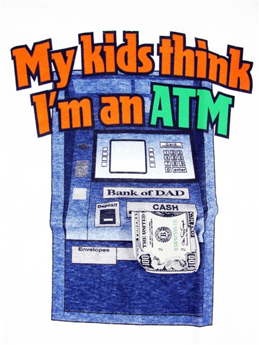 My kids think i 39 m an atm t shirt for Atm t shirt sale
