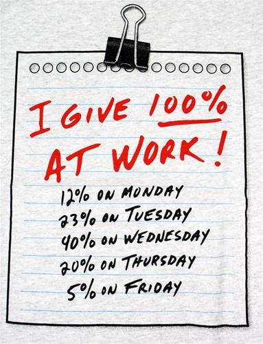 i give 100 at work funny tshirt