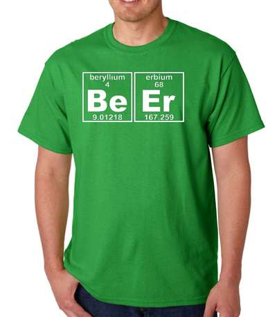 Beer Periodic Element Be Er - Adult Shirt