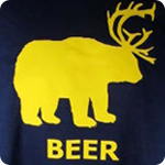 Beer Deer Bear - Adult Shirt