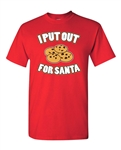 I Put Out For Santa Funny Humor Adult DT T-Shirts Tee