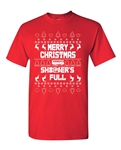 Merry Christmas Shitter Is Full Ugly X-Mas Adult DT T-Shirts Tee