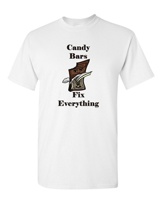 Candy Bars Fix Everything Adult DT T-Shirts Tee