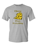 Cheese Fixes Everything Adult DT T-Shirts Tee