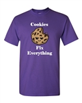 Cookies Fix Everything Adult DT T-Shirts Tee