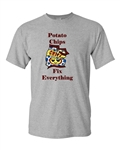 Potato Chips Fix Everything Adult DT T-Shirts Tee