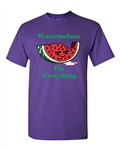 Watermelons Fix Everything Adult DT T-Shirts Tee