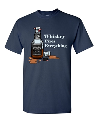 Whiskey Fixes Everything Adult DT T-Shirts Tee