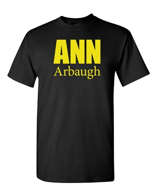 Ann Arbaugh Bold Football Michigan Adult T-Shirt Tee