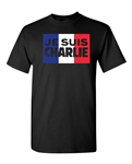 Je Suis Charlie Support France Flag DT Adult T-Shirt Tee