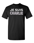 New Je Suis Charlie Support France DT Adult T-Shirt Tee