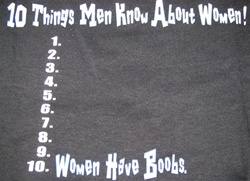 10 Things Men Know about women T-shirt -CLICK ME!